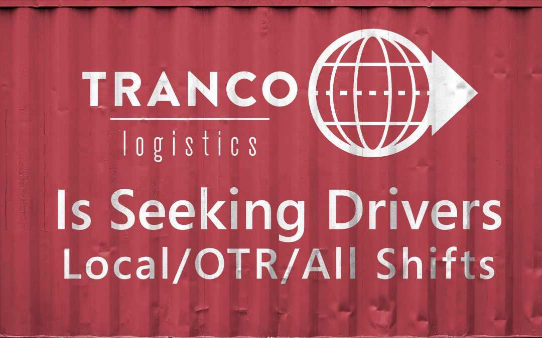 Tranco is hiring drivers!